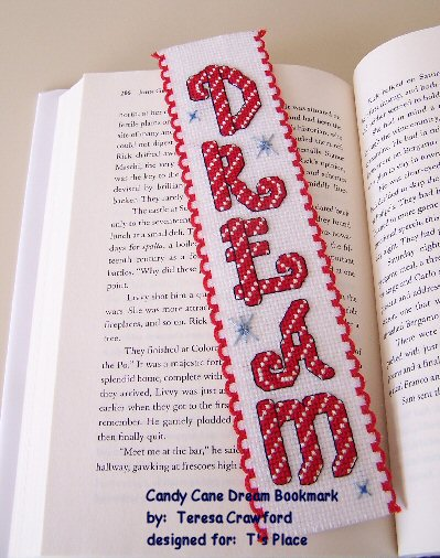 Candy Cane Dream Bookmark